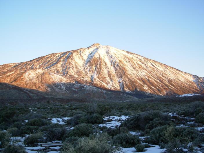 Teide volcano view fromthe parador hotel base 2100 m top 3700 m