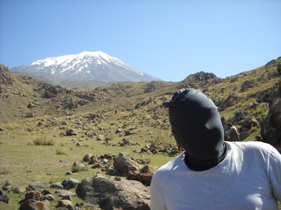 "Mount Ararat with ""The Stig""."